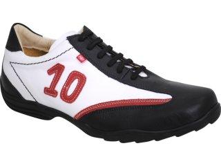 Sapato Masculino Ferricelli 340 Preto/branco - Tamanho Médio