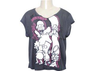 Camiseta Feminina Cavalera Clothing 09.02.0808 Chumbo - Tamanho Médio