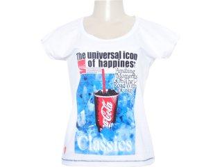 Camiseta Feminina Coca-cola Shoes 343200359 Branco - Tamanho Médio