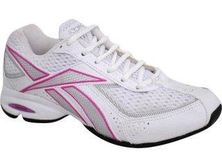 Tênis Feminino Reebok Heel Side Branco/pink - Tamanho Médio