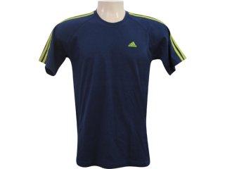 Camiseta Masculina Adidas 796913 Verde/marinho - Tamanho Médio