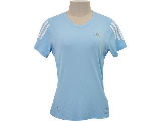Camiseta Feminina Adidas P14707 Azul - Tamanho Médio