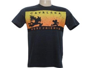 Camiseta Masculina Cavalera Clothing 01.01.5855 Preto - Tamanho Médio