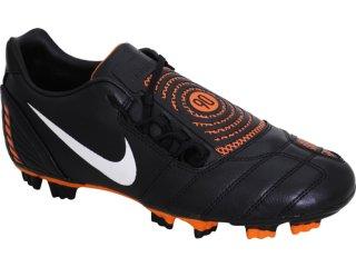 Chuteira Masculina Nike Shoot 354739-018 Preto/laranja - Tamanho Médio