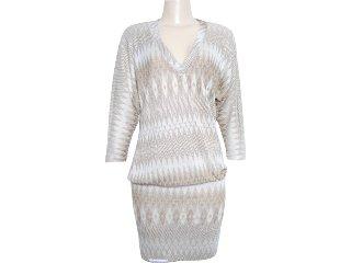 Vestido Feminino Moikana 3002 Bege - Tamanho Médio