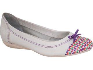 Sapatilha Feminina Bottero 105106 Branco/violeta - Tamanho Médio