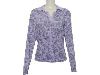 Camisa Feminina Criativa 93222 Roxo - Tamanho Médio