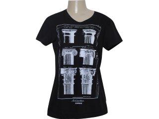 Camiseta Feminina Dopping 015251025 Preto - Tamanho Médio