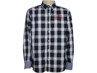 Camisa Masculina Coca-cola Clothing 313200189 Xadrez Azul - Tamanho Médio
