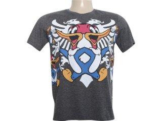 Camiseta Masculina Cavalera Clothing 01.01.5857 Preto - Tamanho Médio