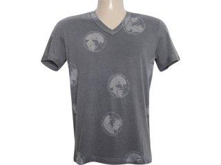 Camiseta Masculina Dopping 015261000 Grafite - Tamanho Médio