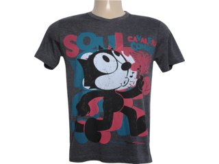 Camiseta Masculina Cavalera Clothing 01.01.5858 Preto - Tamanho Médio