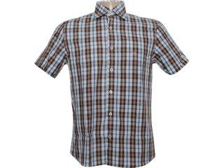 Camisa Masculina Individual 301.410.580 Branco/marrom - Tamanho Médio