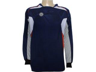 Camisa Masculina Poker 4377 Goleiro Marinho - Tamanho Médio