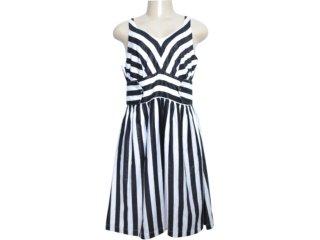 Vestido Feminino Checklist 20.15.0247 Listrado Preto - Tamanho Médio