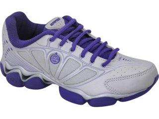 Tênis Feminino Olympikus Tabit Prata/violeta - Tamanho Médio
