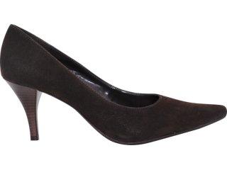 Sapato Feminino Via Marte 10-5605 Nobuck Café - Tamanho Médio