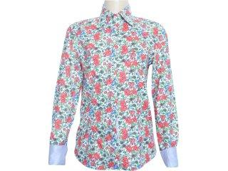 Camisa Feminina Dudalina 232.601.410 Floral Verde - Tamanho Médio