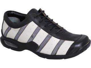 Sapato Masculino West Coast 7401 Branco/preto - Tamanho Médio