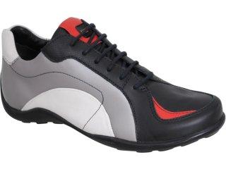 Sapato Masculino West Coast 7313 Prata/preto - Tamanho Médio