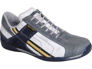 Sapato Masculino West Coast 8525 Branco/marinho - Tamanho Médio