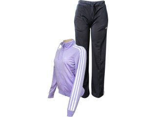 Abrigo Feminino Adidas O03167 Lilas/preto - Tamanho Médio