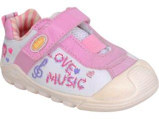 Tênis Feminino Bibi 474039 Branco/rosa - Tamanho Médio