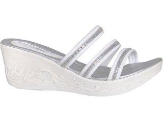 Tamanco Feminino Ramarim 9201/1 Branco/prata - Tamanho Médio