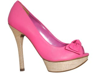 Peep Toe Feminino Via Marte 11-14102 Pink - Tamanho Médio