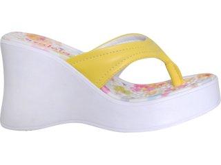 Tamanco Feminino Azaleia Mix 991 Amarelo - Tamanho Médio