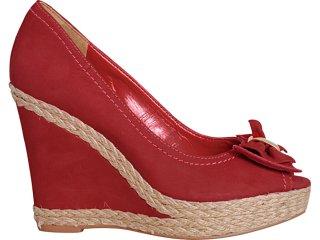 Peep Toe Feminino Via Marte 11-12002 Vermelho - Tamanho Médio