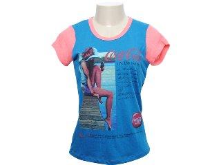 Camiseta Feminina Coca-cola Shoes 343200393 Marinho - Tamanho Médio