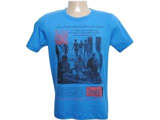 Camiseta Masculina Coca-cola Clothing 353202447 Azul - Tamanho Médio