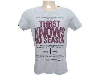 Camiseta Masculina Coca-cola Clothing 353202348 Cinza - Tamanho Médio