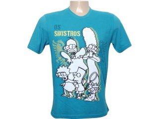 Camiseta Masculina Cavalera Clothing 01.01.5854 Azul - Tamanho Médio