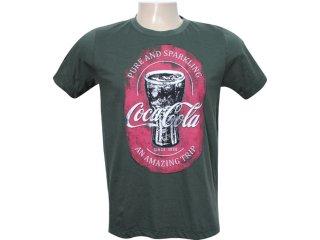 Camiseta Masculina Coca-cola Clothing 353202335 Verde Musgo - Tamanho Médio