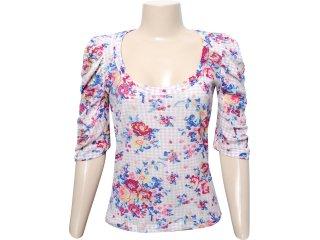 Blusa Feminina Checklist 19.10.2705 Floral Off White - Tamanho Médio