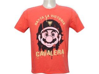 Camiseta Masculina Cavalera Clothing 01.01.5879 Laranja - Tamanho Médio