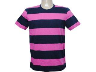Camiseta Masculina Tng B11mkw26 Rosa/marinho - Tamanho Médio