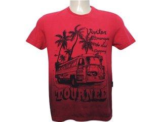 Camiseta Masculina Dopping 015261508 Vermelho - Tamanho Médio