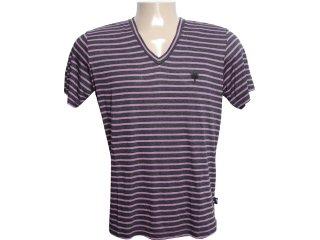 Camiseta Masculina Cavalera Clothing 01.01.6108 Preto/lilas - Tamanho Médio