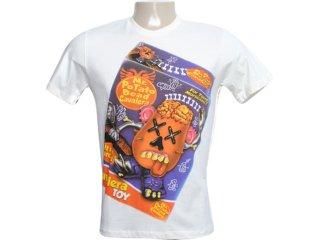 Camiseta Masculina Cavalera Clothing 01.01.5860 Off White - Tamanho Médio