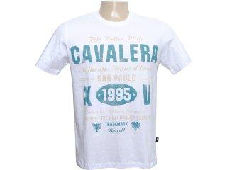 Camiseta Masculina Cavalera Clothing 01.01.6029 Branco - Tamanho Médio