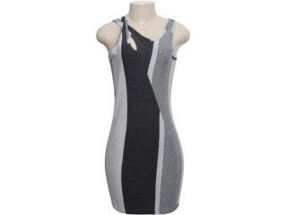 Vestido Feminino Index 13.02.0911 Cinza Claro/escuro - Tamanho Médio