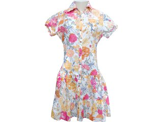 Vestido Feminino Moikana 4050 Floral - Tamanho Médio