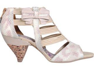 Sandal Boots Feminina Tanara 2511 Creme - Tamanho Médio