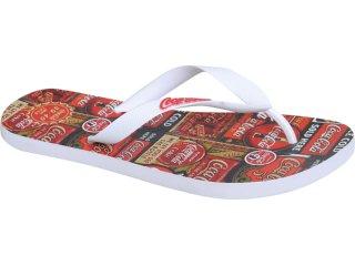Chinelo Masculino Coca-cola Shoes Cc1270006 Branco - Tamanho Médio