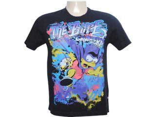 Camiseta Masculina Cavalera Clothing 01.01.6040 Preto - Tamanho Médio