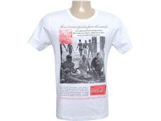 Camiseta Masculina Coca-cola Shoes 353202447 Branco - Tamanho Médio