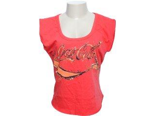Camiseta Feminina Coca-cola Shoes 343200438 Vermelho - Tamanho Médio